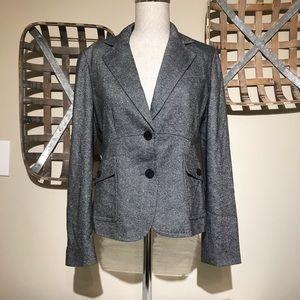 Talbots Petites Wool Blend grey blazer